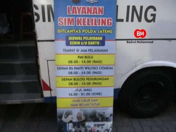 Tempat dan Waktu Pelayanan SIM keliling