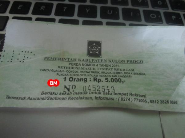 tiket masuk kawasan waduk sermo