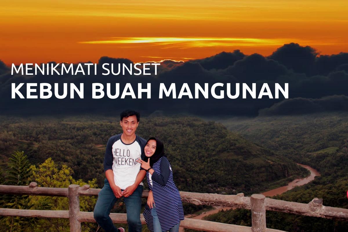 Menikmati Indahnya Sunset Dari Puncak Gardu Pandang Kebun Buah Mangunan, Kabupaten Bantul
