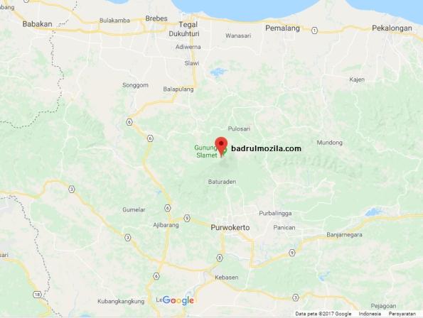 fakta dan misteri gunung slamet lokasi gunung slamet