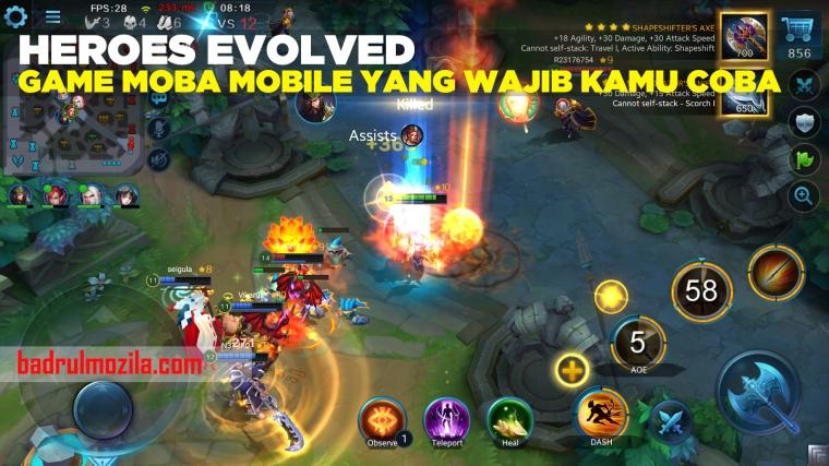 Heroes Evolved Game MOBA yang Wajib Kamu Coba