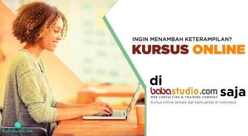 kursus online dan belajar online di baba studio