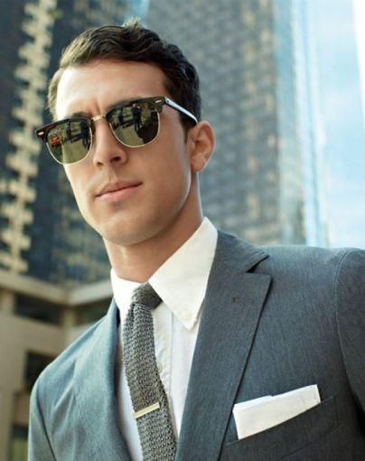 Model Kacamata Pria Terbaru Terpopuler di Tahun 2018 Browline frame
