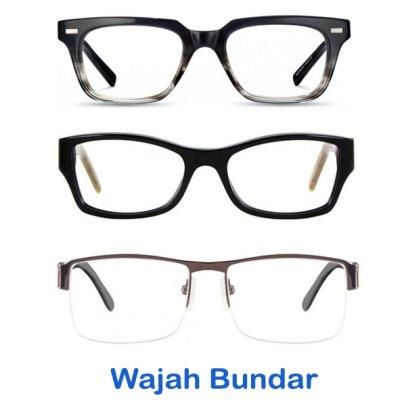 Model Pilihan Kacamata Berkualitas Pria dan Wanita Terbaru bentuk wajah bundar