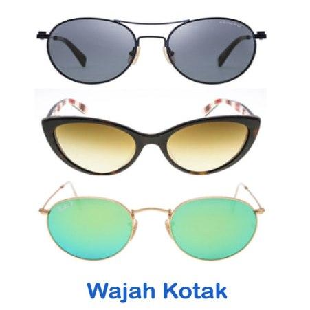 Model Pilihan Kacamata Berkualitas Pria dan Wanita Terbaru bentuk wajah kotak