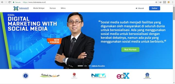 situs kursus online gratis indonesiaX
