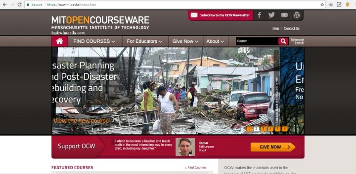 situs kursus online gratis MIT Open Course Ware (OCW) site