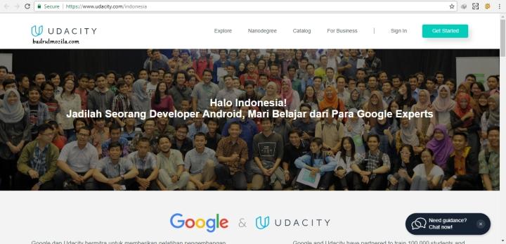 situs kursus online gratis udacity