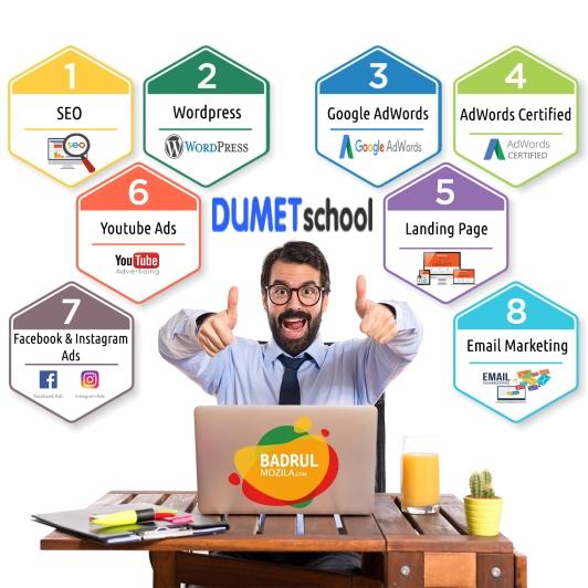 8 Kelas Pembelajaran Kursus Internet Marketing Jakarta, Depok, Tangerang Dumet School