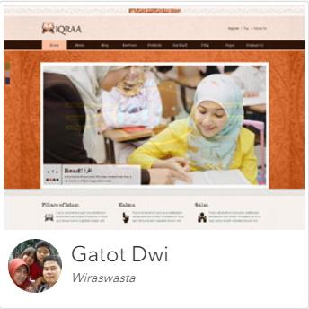 Kursus Website Jakarta, Depok, Tangerang Dumet School karya murid 3