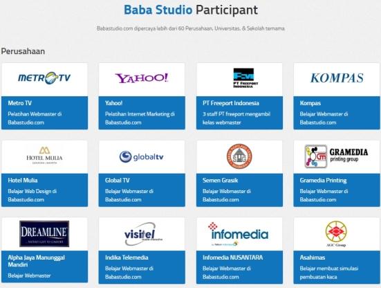 Belajar Online di Baba Studio Klien