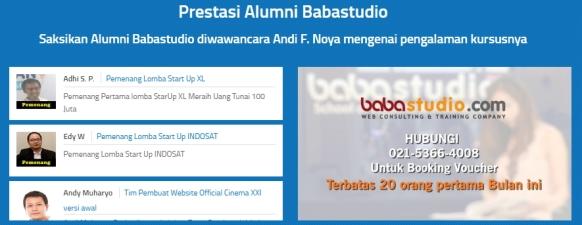 Belajar Online di Baba Studio Prestasi Murid