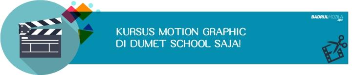 Kursus Motion Graphic Di Dumet School