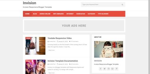 Daftar Template Blogger Responsive Invision Friendly Terlengkap