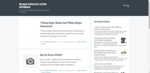 Daftar Template Blogger Responsive Blogku Blogger Gratis SEO Friendly Terlengkap
