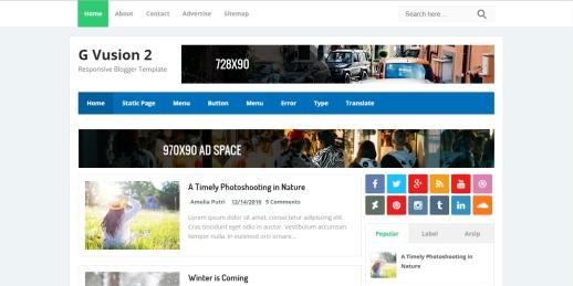 Daftar Template Blogger Responsive G Vusion 2 Friendly Terlengkap