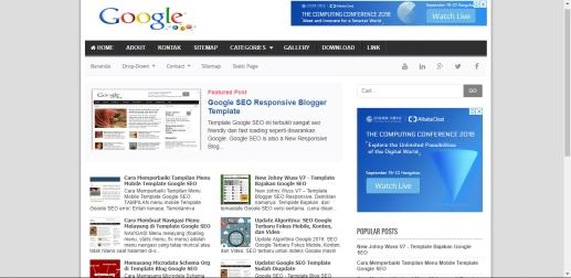 Daftar Template Blogger Responsive Google SEO V2 Gratis SEO Friendly Terlengkap