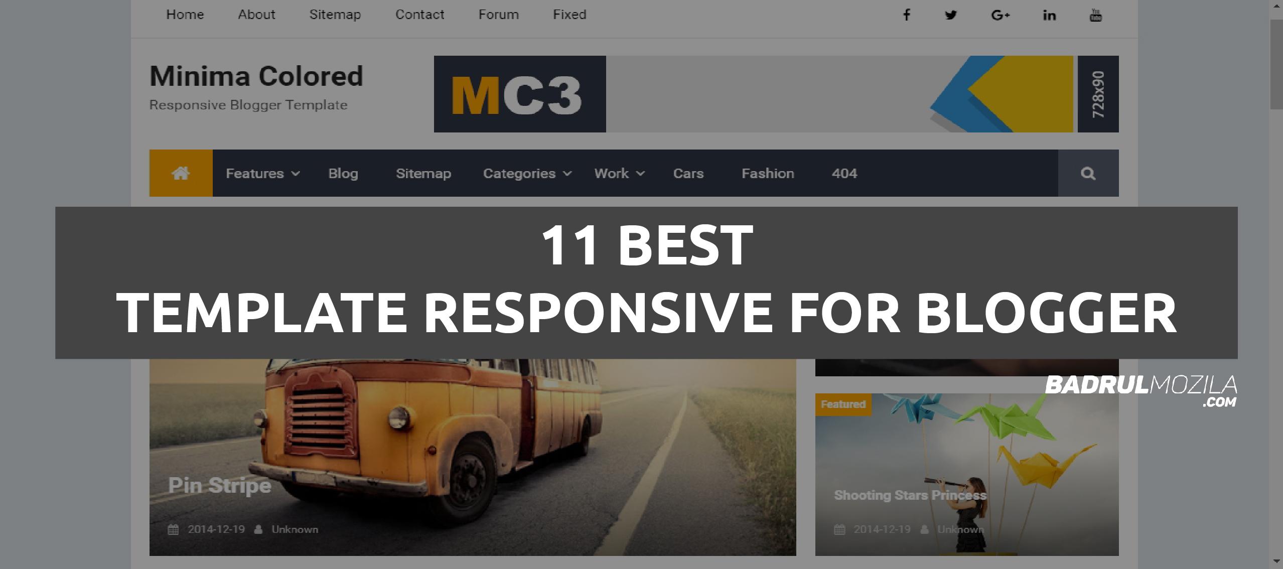 Daftar Template Blogger Responsive Gratis SEO Friendly Terlengkap
