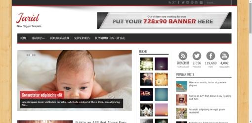 Daftar Template Blogger Responsive Jarid Gratis SEO Friendly Terlengkap