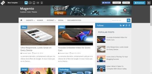 Daftar Template Blogger Responsive Magento Gratis SEO Friendly Terlengkap