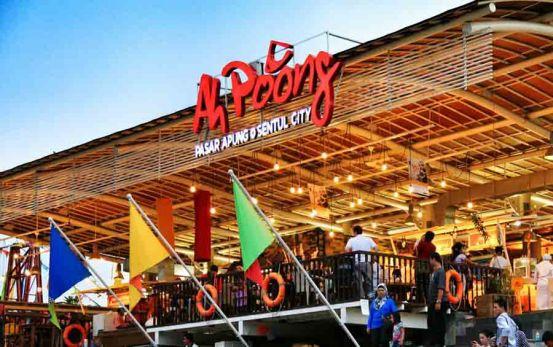 Tempat Wisata Malam di Bogor Terbaru Pasar Ah Poong Bogor